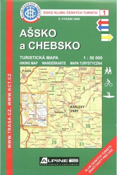 Mapa KČT 1 - Ašsko a Chebsko