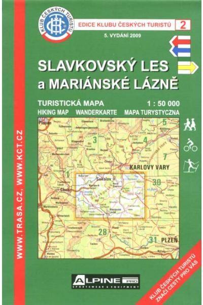 Mapa KČT 2 - Slavkovský les a Mariánské lázně