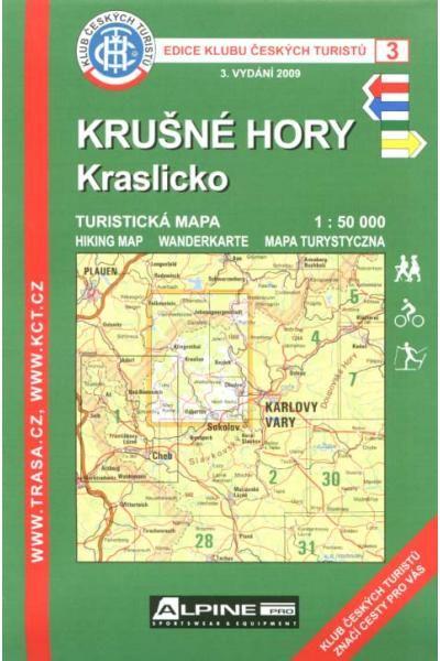 Mapa KČT 3 - Krušné hory-Kraslicko