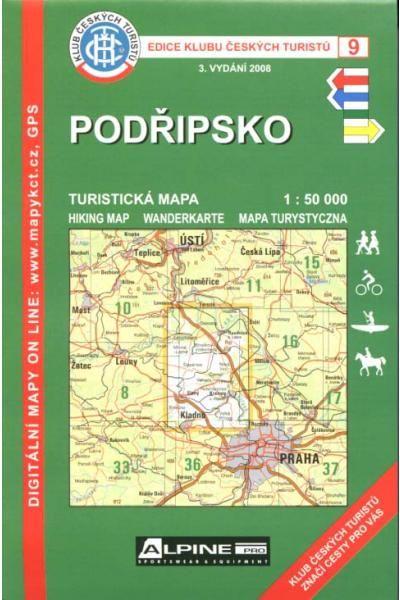 Mapa KČT 9 - Podřípsko