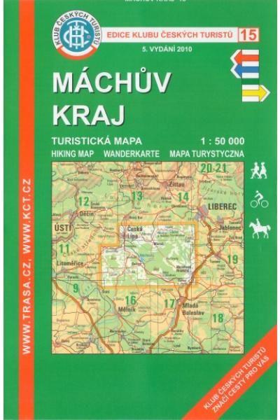 Mapa KČT 15 - Máchův kraj