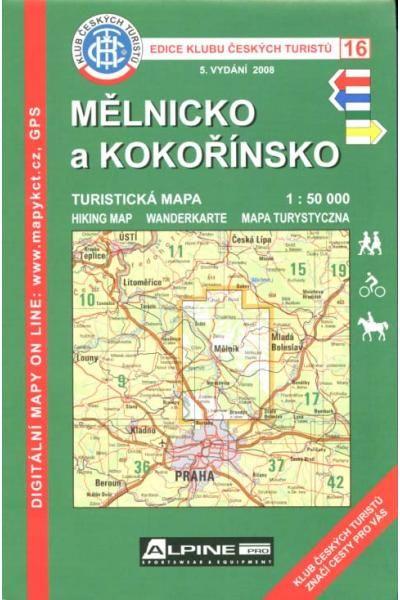 Mapa KČT 16 - Mělnicko a Kokořínsko