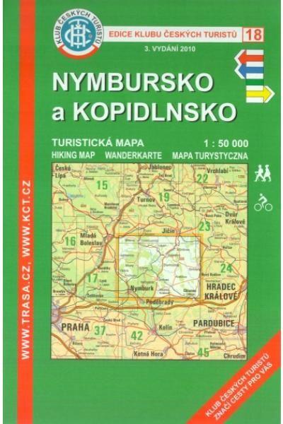 Mapa KČT 18 - Nymbursko a Kopidlnsko
