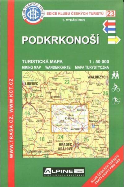 Mapa KČT 23 - Podkrkonoší