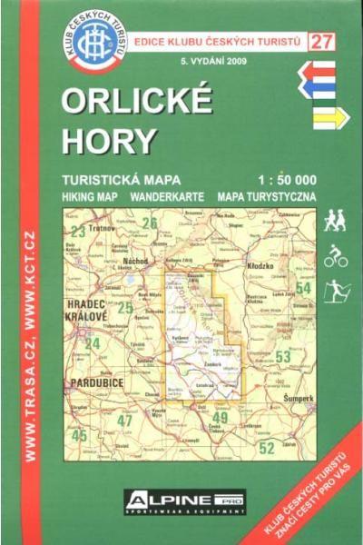 Mapa KČT 27 - Orlické hory