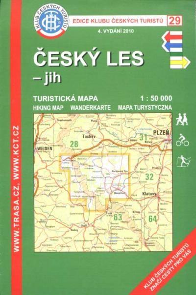 Mapa KČT 29 - Český les-jih