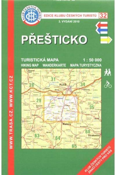 Mapa KČT 32 - Přešticko