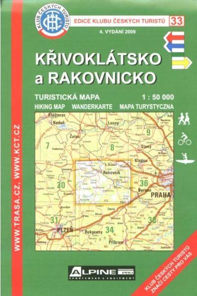 Mapa KČT 33 - Křivoklátsko a Rakovnicko