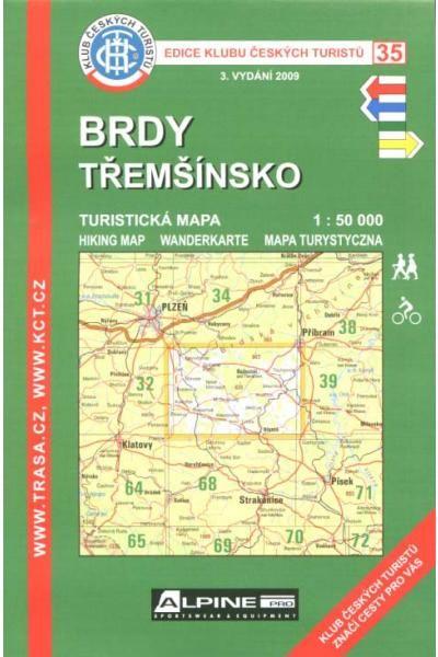 Mapa KČT 35 - Brdy-Třemšínsko