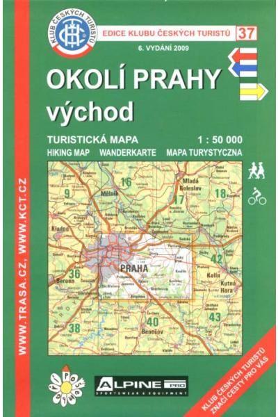 Mapa KČT 37 - Okolí Prahy-východ