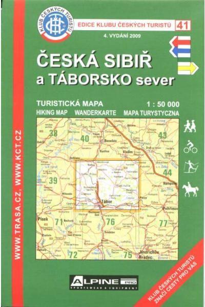 Mapa KČT 41 - Česká Sibiř a Táborsko sever