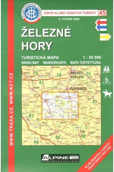 Mapa KČT 45 - Železné hory