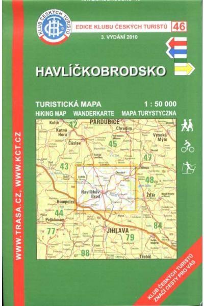 Mapa KČT 46 - Havlíčkobrodsko