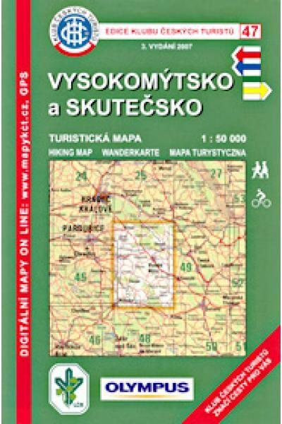 Mapa KČT 47 - Vysokomýtsko a Skutečsko