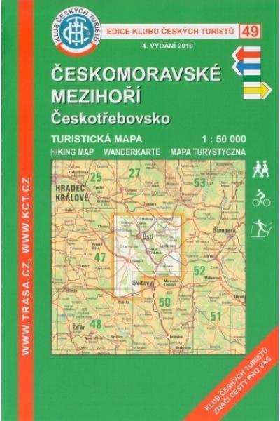 Mapa KČT 49 - Českomoravské mezihoří-Českotřebovsko