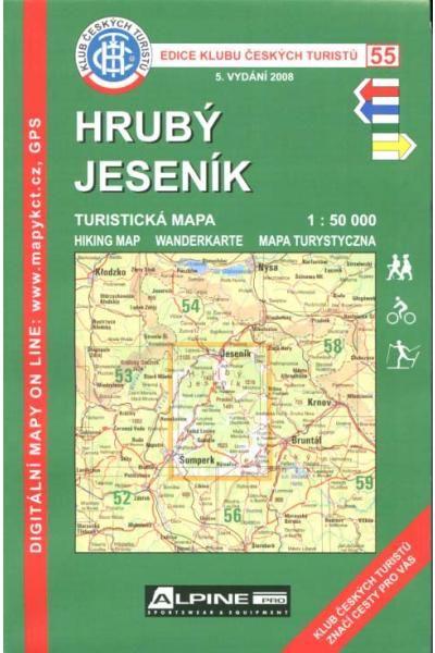 Mapa KČT 55 - Hrubý Jeseník