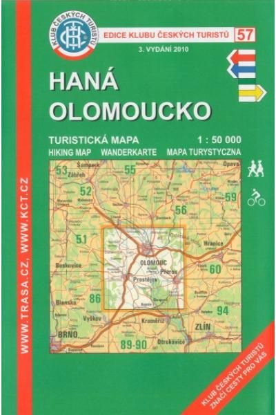 Mapa KČT 57 - Haná-Olomoucko