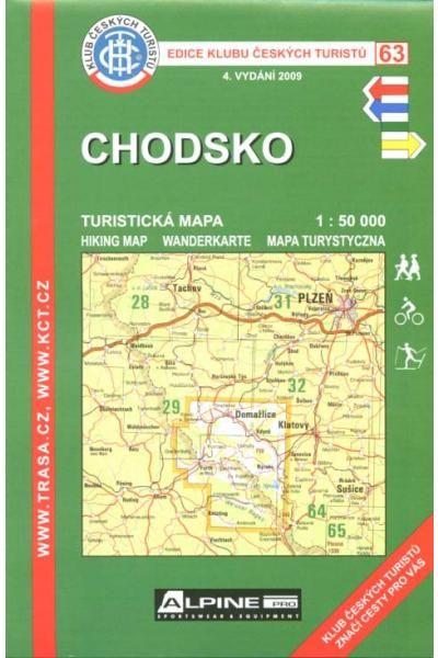 Mapa KČT 63 - Chodsko