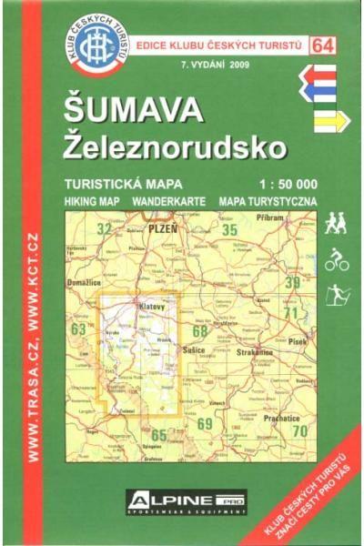Mapa KČT 64 - Šumava-Železnorudsko