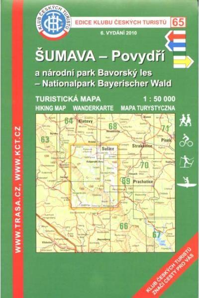 Mapa KČT 65 - Šumava-Povydří a Národní park Bavorský les