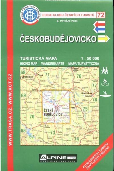 Mapa KČT 72 - Českobudějovicko
