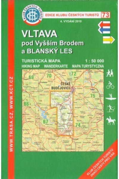 Mapa KČT 73 - Vltava pod Vyšším Brodem a Blanský les