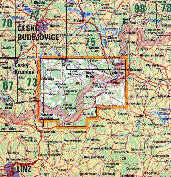 Mapa KČT 74 - Novohradské hory