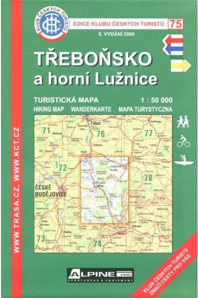 Mapa KČT 75 - Třeboňsko a horní Lužice