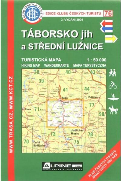Mapa KČT 76 - Táborsko jih a střední Lužice
