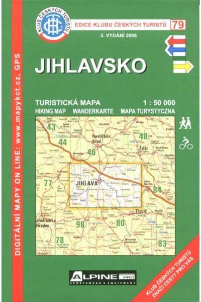 Mapa KČT 79 - Jihlavsko