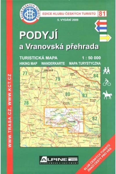 Mapa KČT 81 - Podyjí-Vranovská přehrada