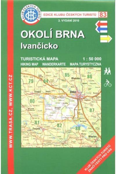 Mapa KČT 83 - Okolí Brna-Ivančicko