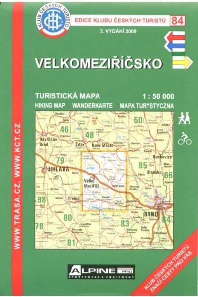 Mapa KČT 84 - Velkomeziříčsko