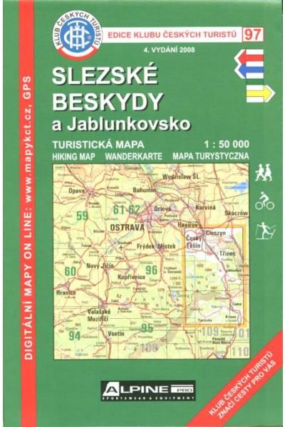 Mapa KČT 97 - Slezské Beskydy a Jablunkovsko