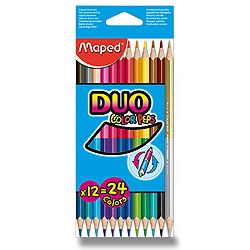 Pastelky Maped Color Peps Duo, 24 barev