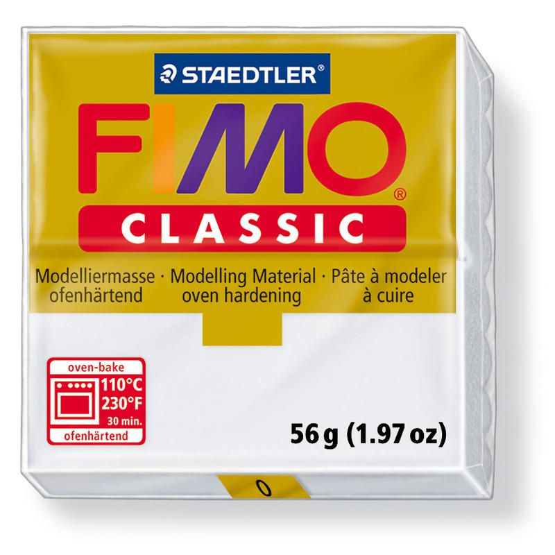 Fimo classic modelovací hmota 56g. - barva bílá