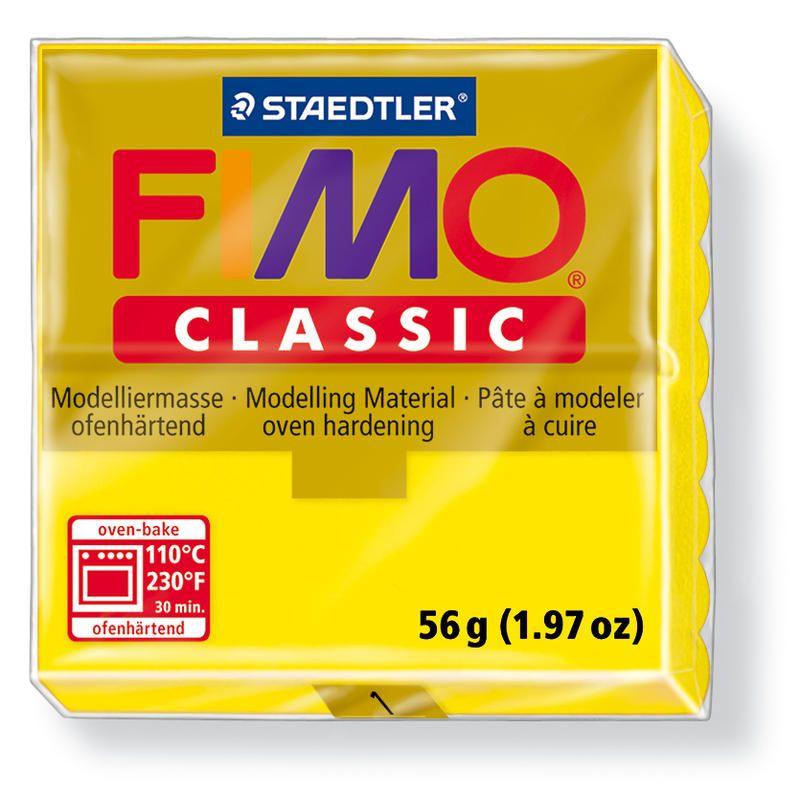 Fimo classic modelovací hmota 56g. - barva žlutá