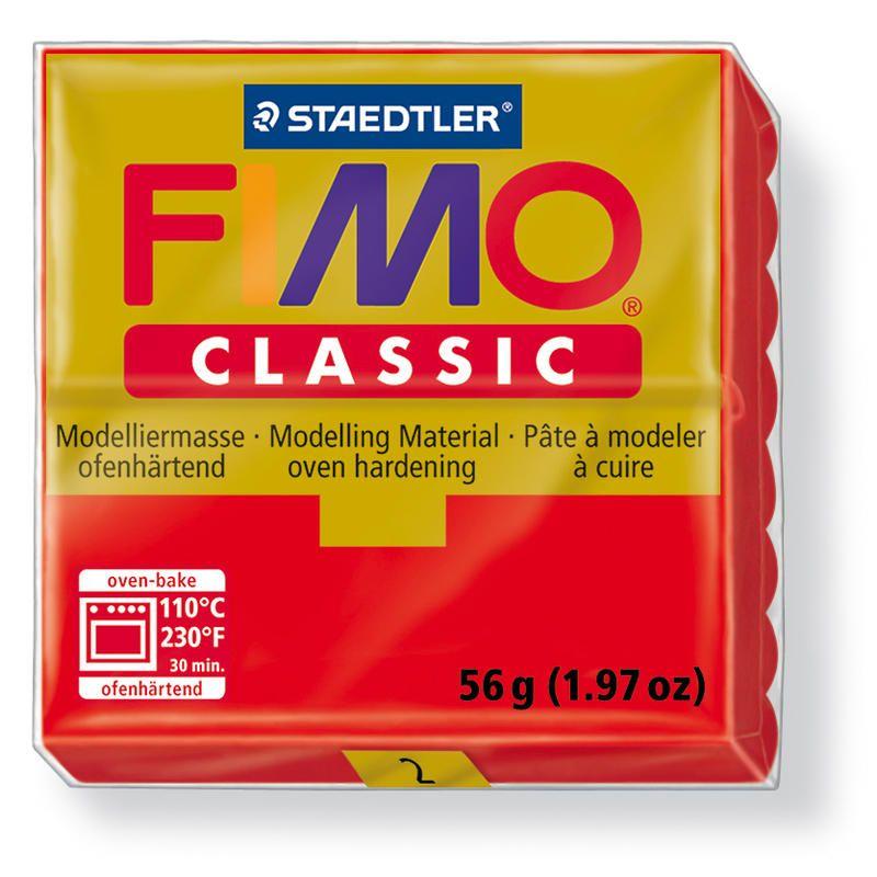 Fimo classic modelovací hmota 56g. - barva červená