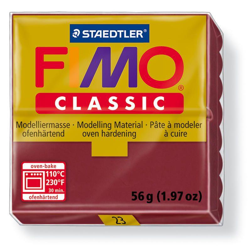 Fimo classic modelovací hmota 56g. - barva červená bordeaux