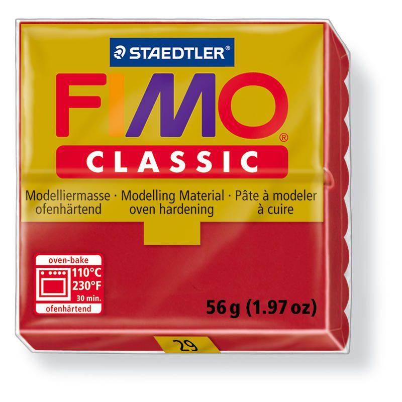 Fimo classic modelovací hmota 56g. - barva karmínově červená