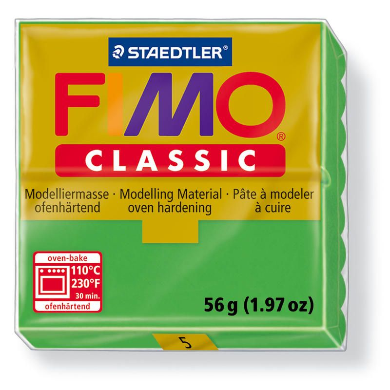 Fimo classic modelovací hmota 56g. - barva zelená