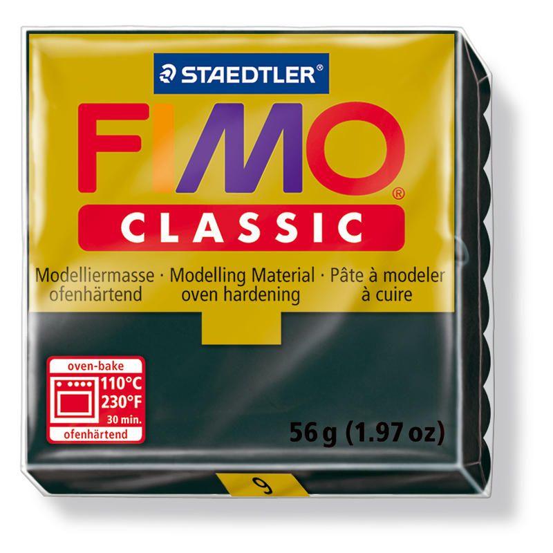 Fimo classic modelovací hmota 56g. - barva černá