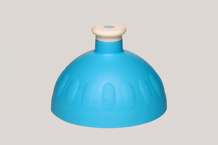 Náhradní víčko na Zdravou lahev, modrá/bílá