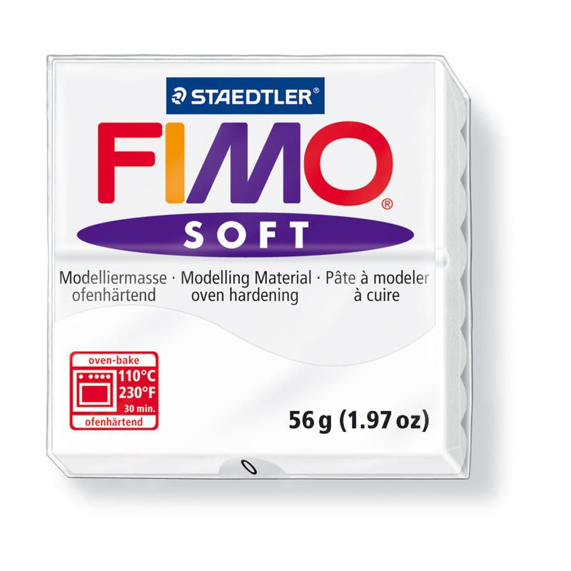 Hmota FIMO SOFT, 56 g, bílá