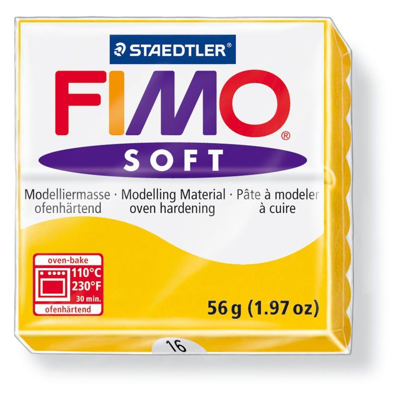 Hmota FIMO SOFT, 56 g, žlutá