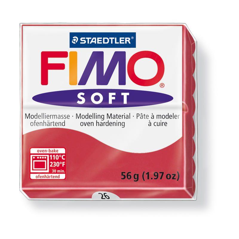 Hmota FIMO SOFT, 56 g, tm. červená