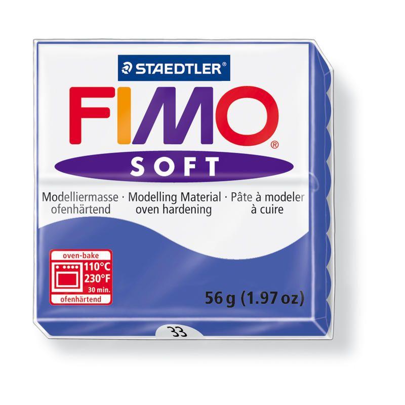 Hmota FIMO SOFT, 56 g, tm. modrá