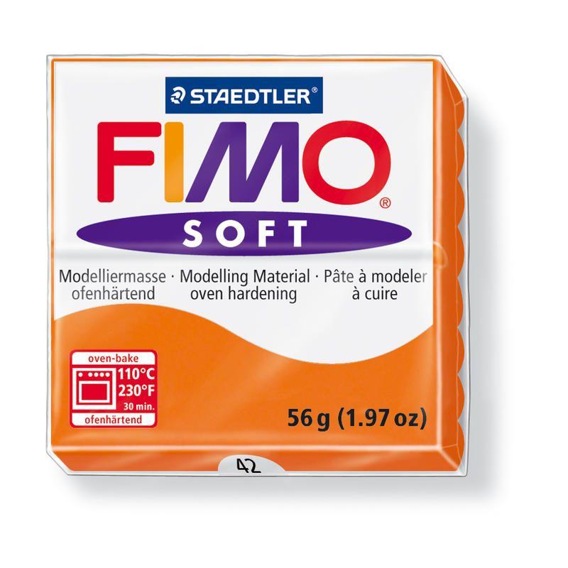Hmota FIMO SOFT, 56 g, oranžová