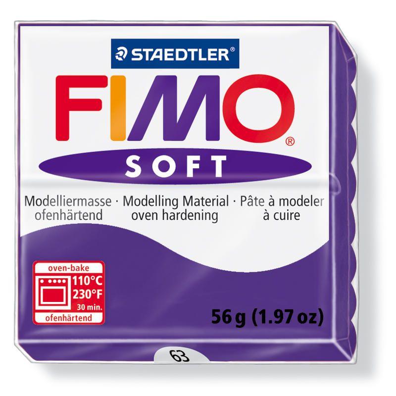 Hmota FIMO SOFT, 56 g, tm. fialová