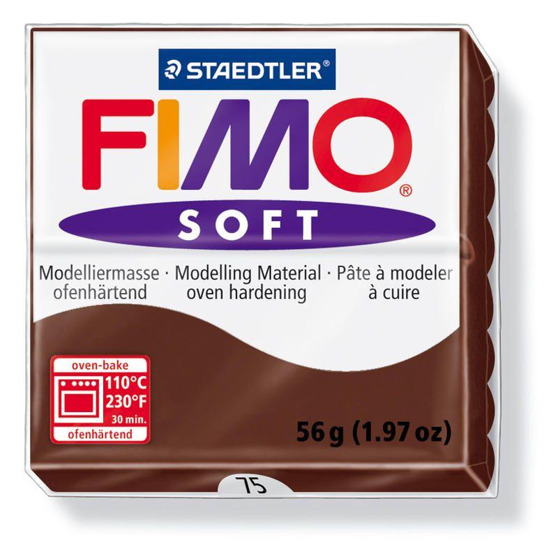 Hmota FIMO SOFT, 56 g, čokoládová